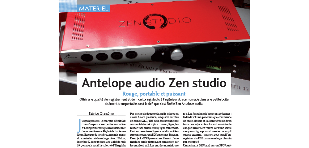 Zen Studio Review by Realisation Magazine